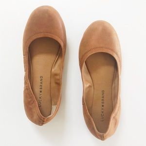 Lucky Brand Emmie Foldable Camel Ballet Flats